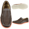 Mens Casual Shoes Two Tone Mesh Casual Loafers Brown