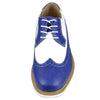 Mens Casual Shoes Lace Up Oxford Derby Two Tone Shoes Blue