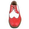 Mens Casual Shoes Lace Up Oxford Derby Two Tone Shoes Red