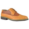 Mens Casual Shoes Lace Up Oxford Derby Two Tone Shoes Tan