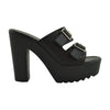 Womens Platform Sandals Buckle Accent Platform Shoes black