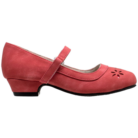Kids Dress Shoes Mary Jane Ankle Strap Closed Toe Pumps Red
