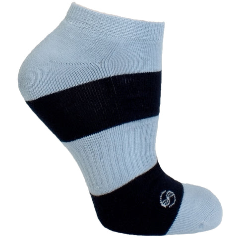 Men's Socks Solid Striped Athletic Perfomance Sport Comfortable No Show Hosiery Blue