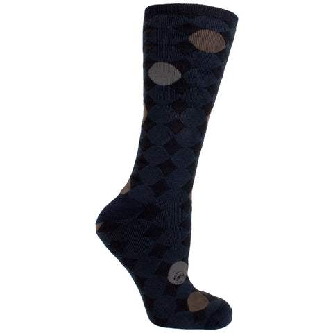 Men's Socks Athletic Performance Sport Polka Dot Circle Mid Calf Crew Socks Black