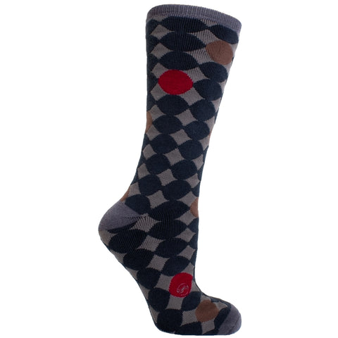 Men's Socks Athletic Performance Sport Polka Dot Circle Mid Calf Crew Socks Gray