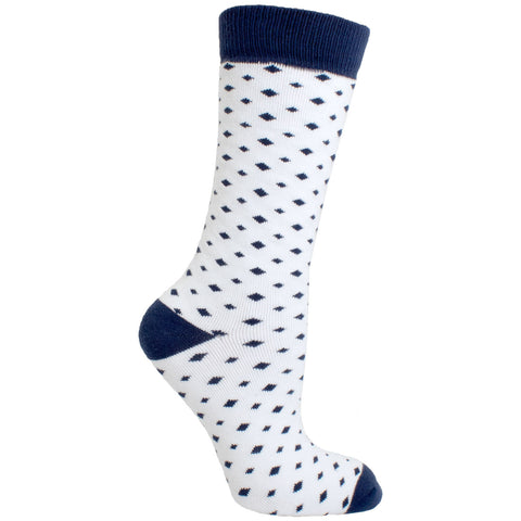 Men's Socks Athletic Performance Sport Diamond Argyle Mid Calf Crew Socks Blue