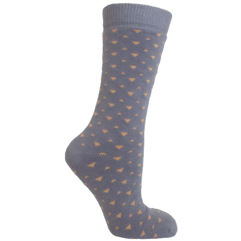 Men's Socks Athletic Performance Sport Triangle Pattern Mid Calf Crew Socks Gray
