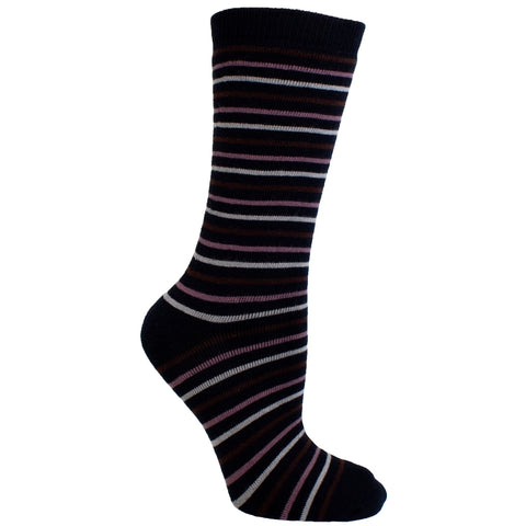 Men's Socks Athletic Sport Performance Striped Mid Calf Crew Socks Black