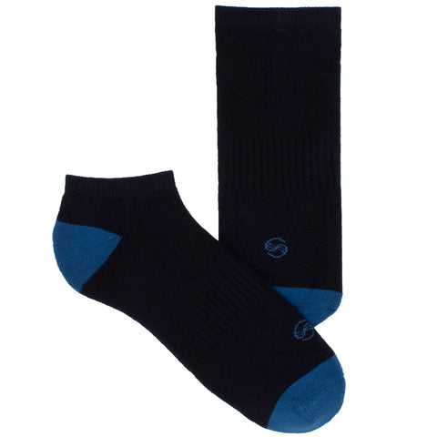 Men's Socks Athletic Performance Sport Colorblock Contrast No Show Hosiery Blue
