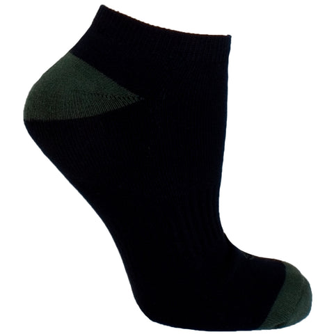 Men's Socks Athletic Performance Sport Colorblock Contrast No Show Hosiery Green