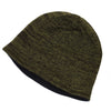 Unisex Reversible Beanie Two-Tone Inner Micro-Fleece Green / Gray SOBEYO