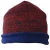 Unisex Reversible Beanie Two-Tone Inner Micro-Fleece Red / Navy SOBEYO