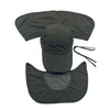 Men's Outdoor Snap Hats Fishing Hiking Boonie Hunting Brim Ear Neck Cover Sun Flap Cap Dark Grey SOBEYO