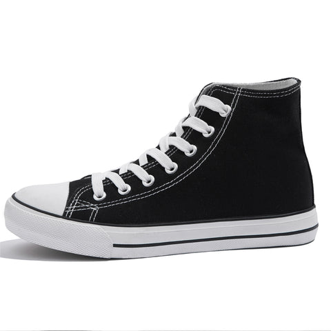 SOBEYO Women's Sneakers Canvas Lace Up High Top Casual Comfort Shoes Black
