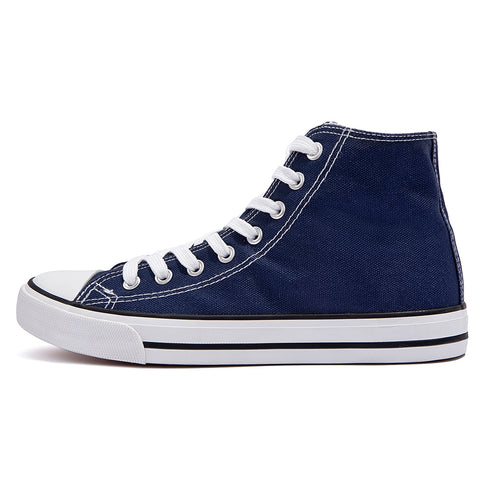 SOBEYO Women's Sneakers Canvas Lace Up High Top Casual Comfort Shoes Navy
