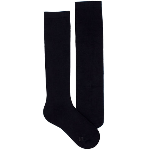 Women's Socks Knee High Performance Comfortable Athletic Sport Solid Sock Black