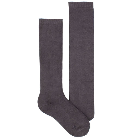 Women's Socks Knee High Performance Comfortable Athletic Sport Solid Sock Gray