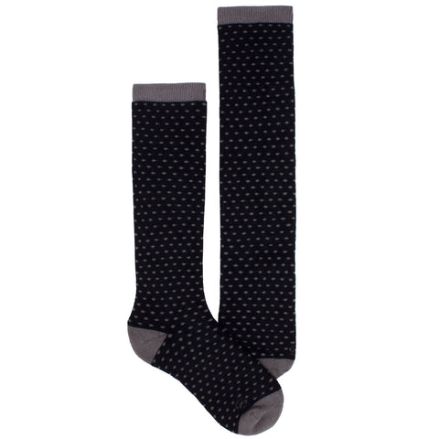 Women's Socks Knee High Performance Comfortable Athletic Sport Polka Dot Sock Black
