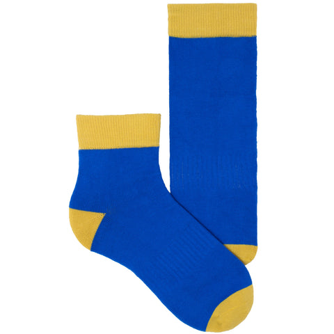 Women's Socks Quarter Ankle Performance Comfortable Colorblock Athletic Sock Blue