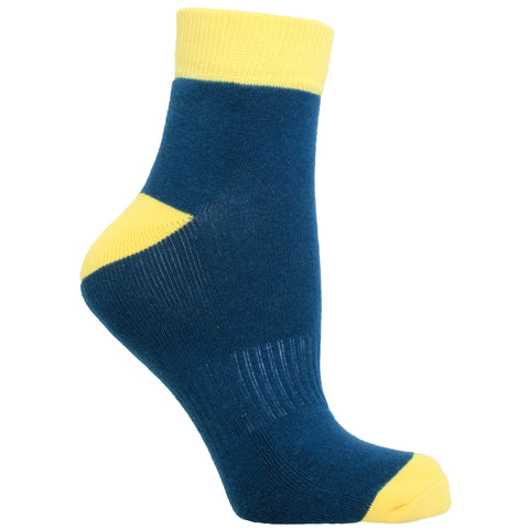 Women's Socks Quarter Ankle Performance Comfortable Colorblock Athletic Sock Teal
