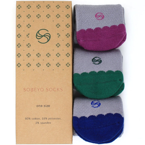 Women's Socks No Show Performance Flower Scalloped Athletic Comfortable Sock Mix