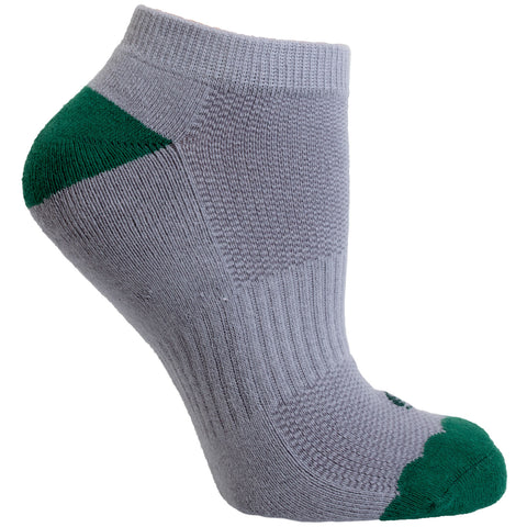 Women's Socks No Show Performance Flower Scalloped Athletic Comfortable Sock Green