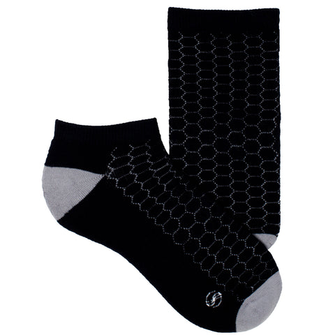 Women's Socks No Show Athletic Sport Performance Honeycomb Sock Gray