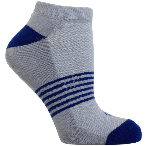 Women's Socks No Show Athletic Comfortable Performance Striped Sock Blue