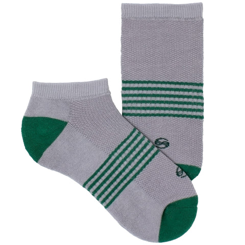 Women's Socks No Show Athletic Comfortable Performance Striped Sock Green