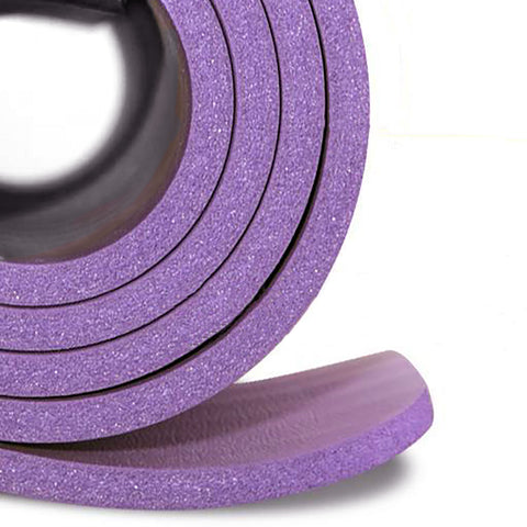 Yoga Mats 1/2-Inch Extra Thick /w Carrying Strap Black