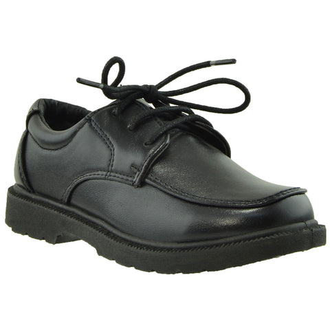 Boys Dress Shoes Lace Up Round Toe Closed Toe Shoes Black