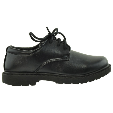 Boys Dress Shoes Lace Up Derbies Closed Toe Shoes Black