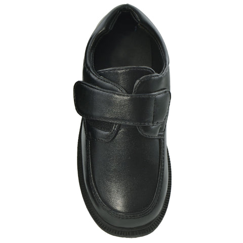 Boys Dress Shoes Tonal Stitch Monk Strap Closed Toe Shoes Black