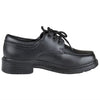 Boys Dress Shoes Tonal Stitch Mock Toe Lace Up Oxford Black
