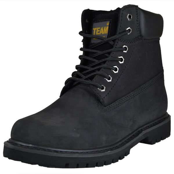 3da618e6319 Mens Boots Water and Oil Resistant Work Or Hiking Shoes Black