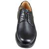 Mens Dress Shoes Stitched Almond Toe Lace Up Derby Black