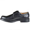 Mens Dress Shoes Monk Strap Side Buckle Slip On Loafer Black
