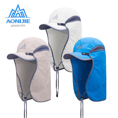 Unisex Fishing Hat Sun Visor Cap Outdoor UPF 50 Sun Protection with Removable Ear Neck Flap Cover