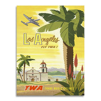poster - Affiche Vintage - Los Angeles - Fly TWA - Affiche Vintage - Los Angeles - Fly TWA|stikeo.com