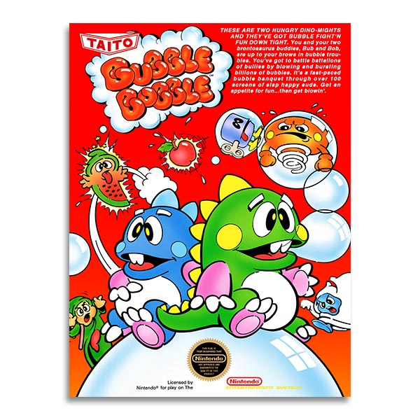 Retrogaming - Bubble Bobble  - Nes cover