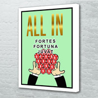 tableau - All in - Fortes Fortuna Juvat - All in - Fortes Fortuna Juvat|stikeo.com