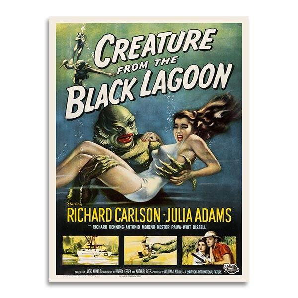 Affiche Vintage - Creature of the black lagoon