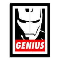 poster - Iron Man - GENIUS - Iron Man - GENIUS|stikeo.com