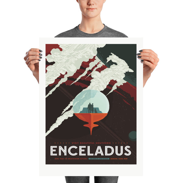 Encelade - Tourisme Spacial - NASA/JPL