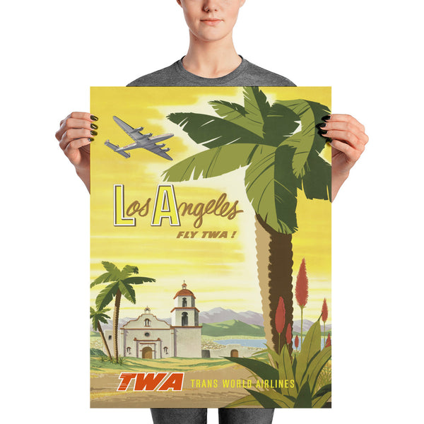 Affiche Vintage - Los Angeles - Fly TWA