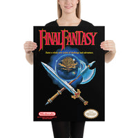 poster - Nes cover Final Fantasy - Nes cover Final Fantasy|stikeo.com