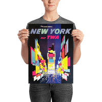 poster - Affiche Vintage - New York Fly TWA - Affiche Vintage - New York Fly TWA|stikeo.com