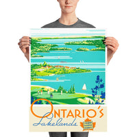 poster - Affiche vintage - Ontario - National Canadian Railsway - Affiche vintage - Ontario - National Canadian Railsway|stikeo.com