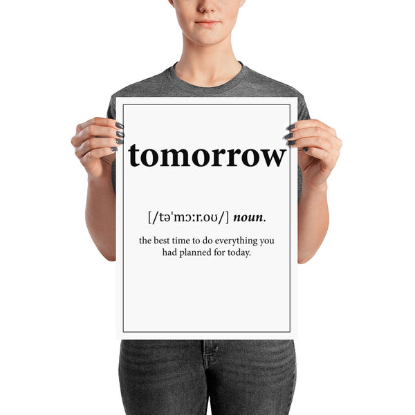 Définition - Tomorrow