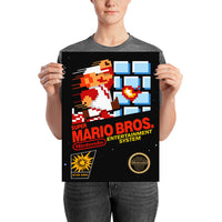 poster - Retrogaming - Mario Bros - Retrogaming - Mario Bros|stikeo.com